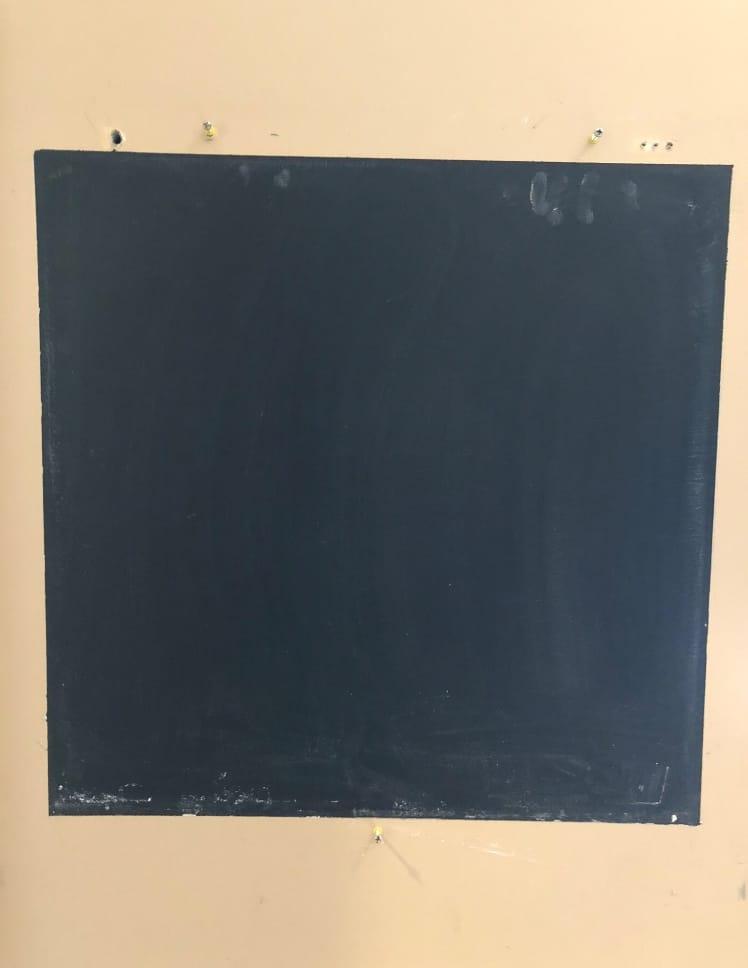 chalkboard paint on wall