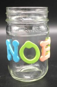 Christmas candle - Letters on jar