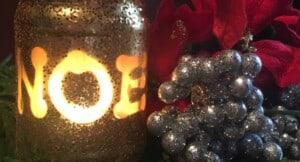 Christmas candle - Festive holiday candle