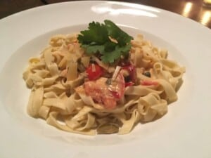 Cooked homemade pasta for dinner