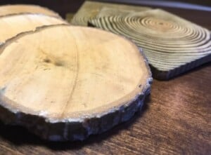 Wooden coasters - Finished coasters