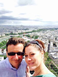 French crepe - Erich and I, enjoying the view from the Eiffel Tower (Photo by Viana Boenzli)