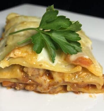Lasagne Al Forno with Bolognese and Béchamel Sauce (Photo by Erich Boenzli)