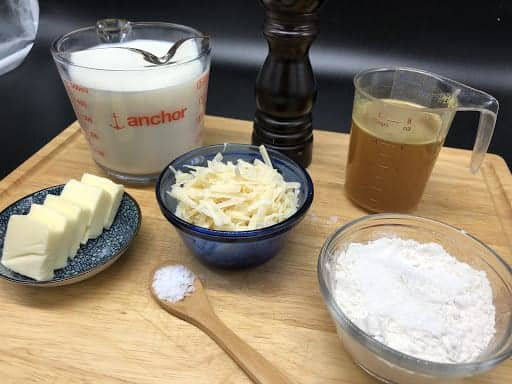 Ingredients for Bechamel sauce (Photo by Erich Boenzli)