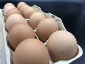 Essential Food Pantry - Brown eggs from our local farmer (Photo by Erich Boenzli)