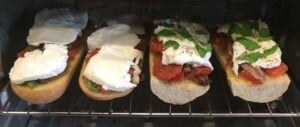 French Bread Pizza - Cook pizza directly on oven rack (Photo by Viana Boenzli)