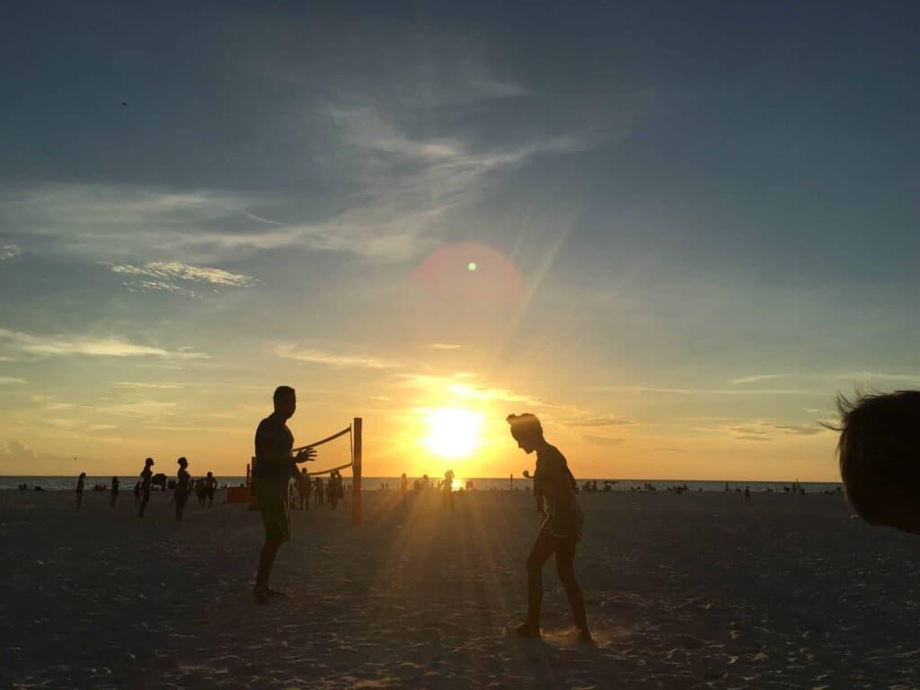 Beach Sand - Sunset at Clearwater Beach, FL (Photo by Erich Boenzli)
