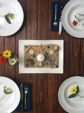 Spruce Up Your Outdoor Entertaining with Beach Themed Table Decor (Photo by Viana Boenzli)