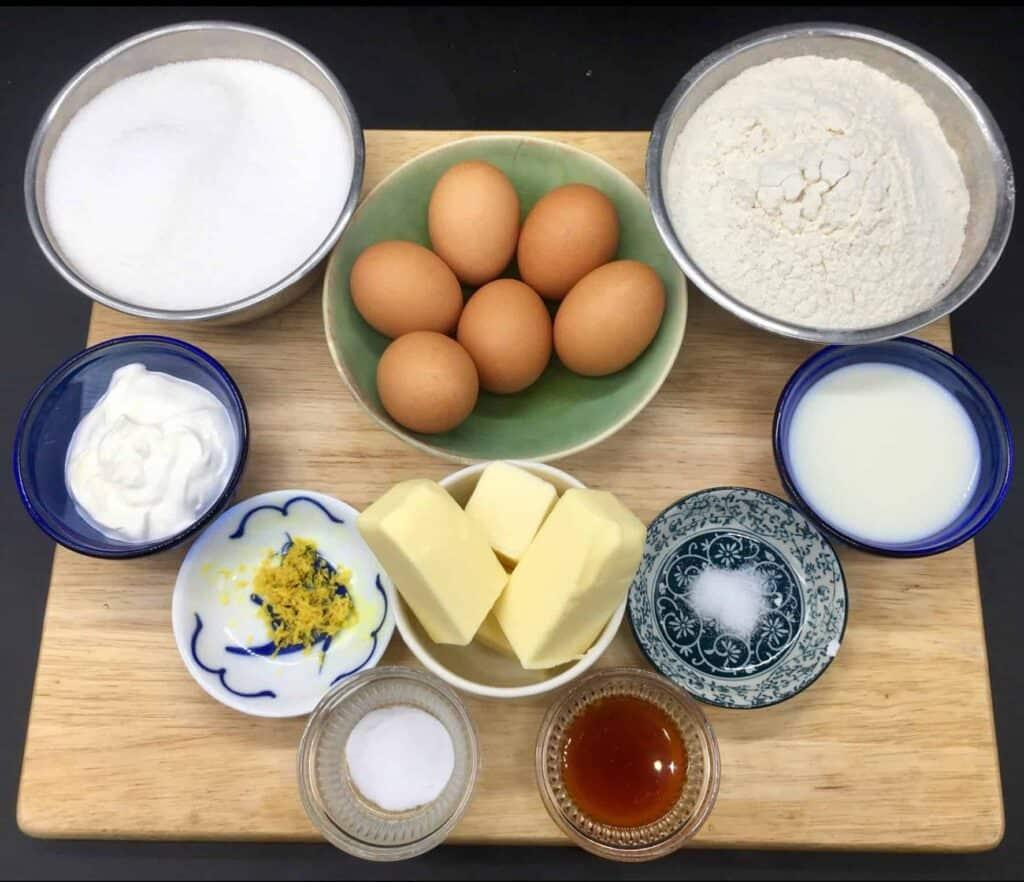 Peach Shortcake - Pound cake ingredients (Photo by Viana Boenzli)