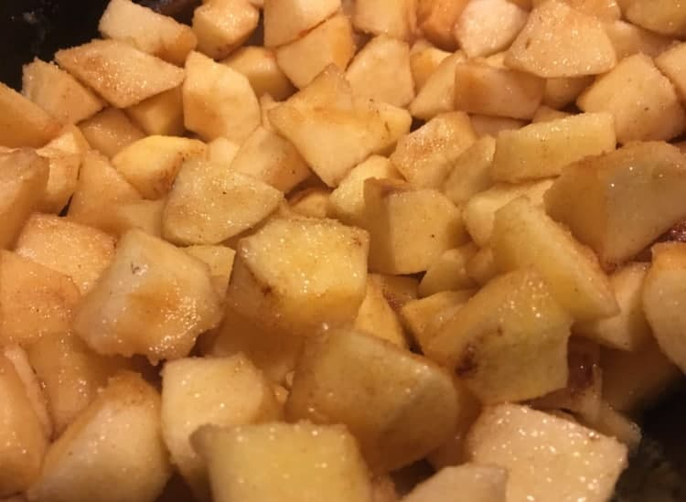 Applesauce and apple butter - Apples tossed with other ingredients, ready for cooking (Photo by Viana Boenzli)