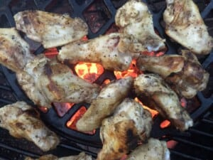 Charcoal Grilled Chicken Wings - Finish cooking over direct heat (Photo by Erich Boenzli)