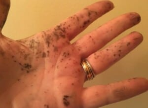 How to transfer photos to wood - Maybe I should have worn gloves... (Photo by Viana Boenzli)