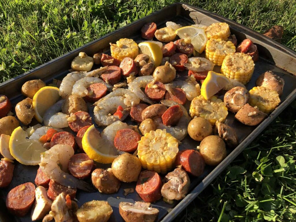 Shrimp Boil - Looks impressive and tastes fantastic (Photo by Erich Boenzli)