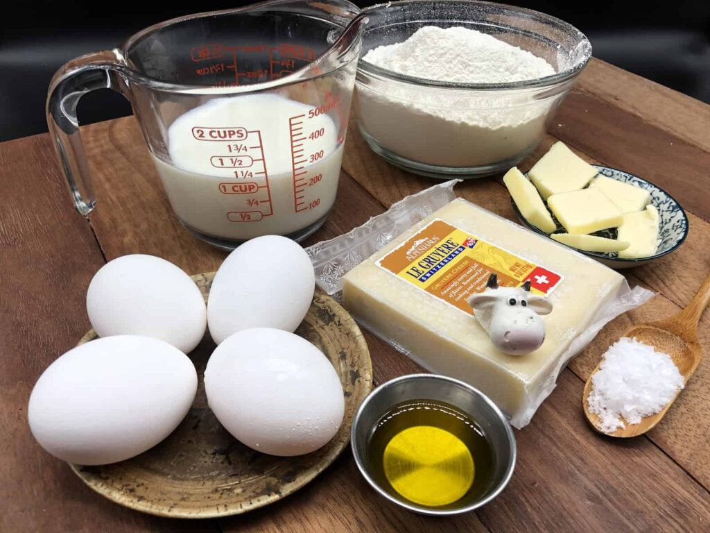 Chnopfli - Just a few simple ingredients (including cow's cheese 😃) - (Photo by Erich Boenzli)