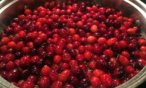 Thanksgiving Leftover Ideas - Cranberry sauce in the works (Photo by Viana Boenzli)