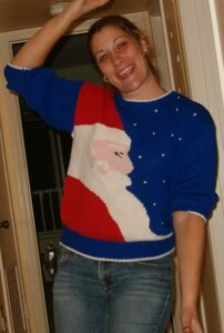 Christmas Traditions - Viana's Christmas sweater (Photo by Erich Boenzli)