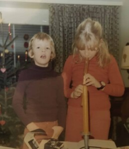Christmas Traditions - Me and my sister...Can we open the presents yet?!
