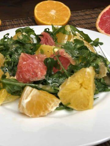 Arugula Citrus Salad with Chia Seed Apple Cider Vinaigrette (Photo by Erich Boenzli)