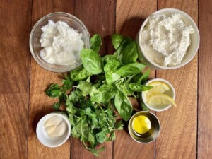 Ricotta Dip - Herbs, herbs, herbs, and some other ingredients (Photo by Erich Boenzli)