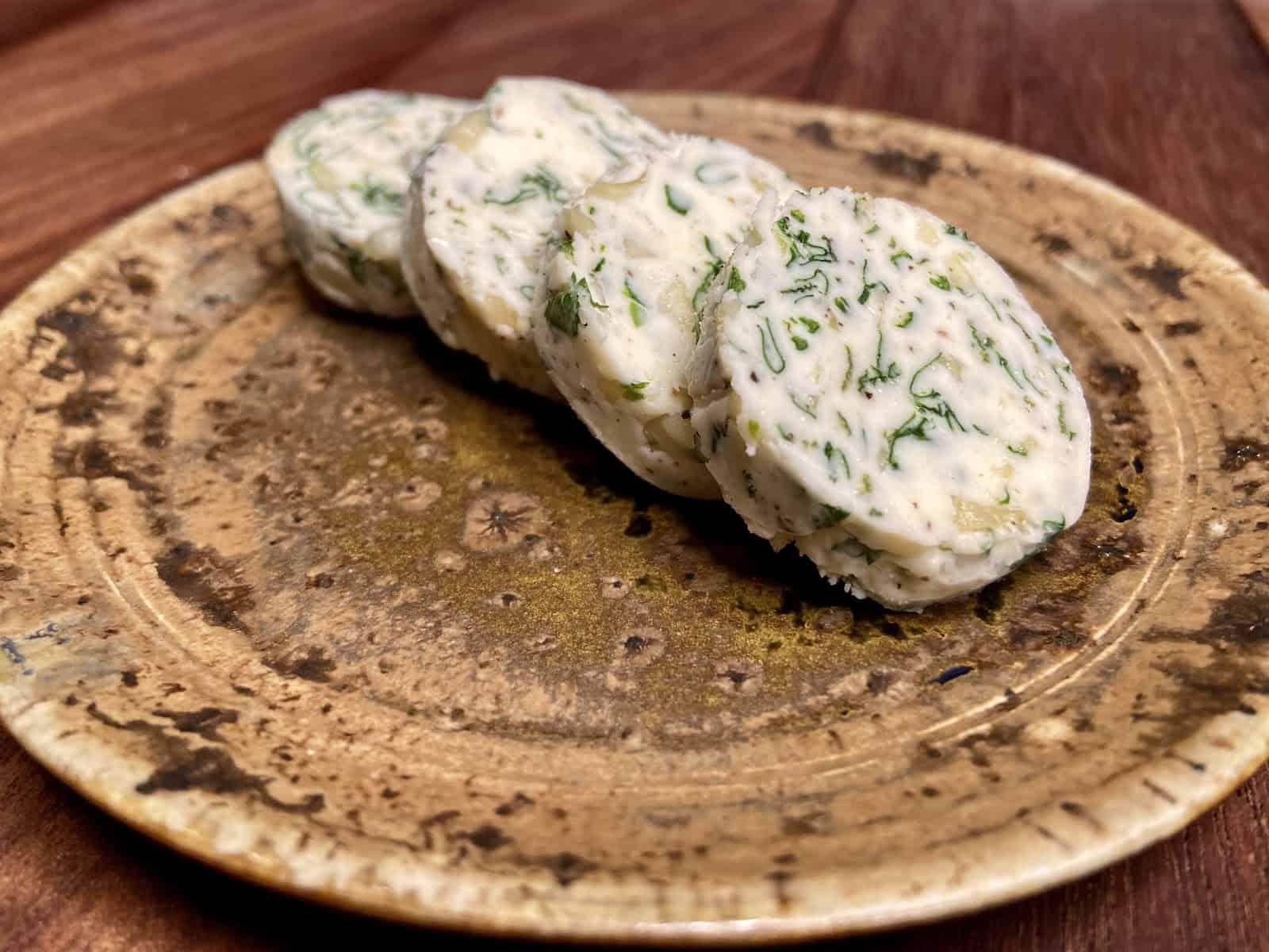 Sheet Pan Dinner - Garlic Herb Compound Butter (Photo by Erich Boenzli)