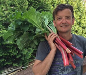 Perennial Vegetables - Rhubarb from our garden (Photo by Viana Boenzli)