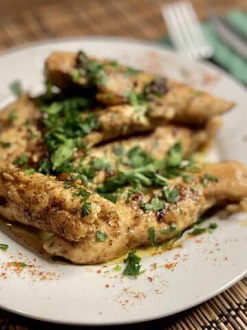 Garlic Lemon Chicken - Garlic Lemon Chicken with Capers and Anchovies (Photo by Erich Boenzli)