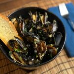 Moules Marinière (Mussels with Garlic and Parsley) - (Photo by Erich Boenzli)