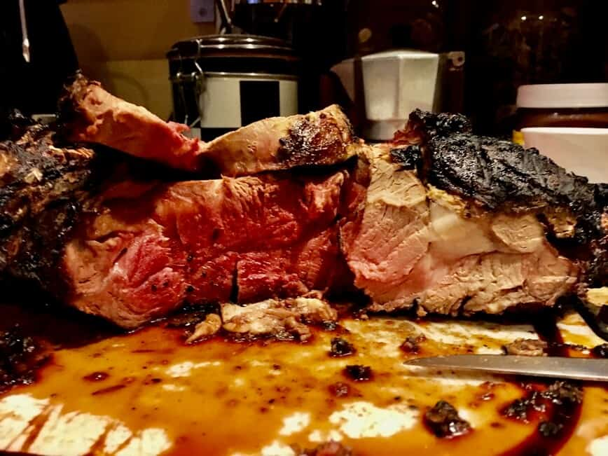 How to grill steaks - It took over an hour to get this beauty tasty (Photo by Erich Boenzli)