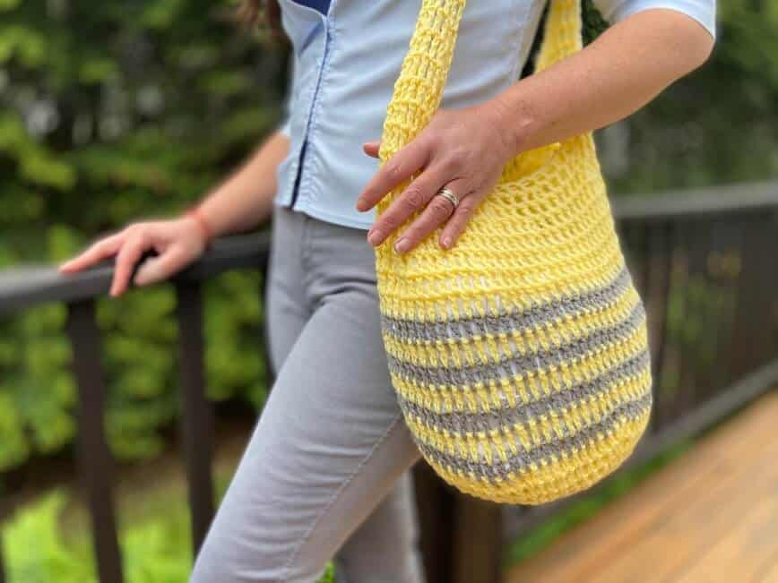 Crochet Market Bag (Free Pattern & Beginner Friendly!)