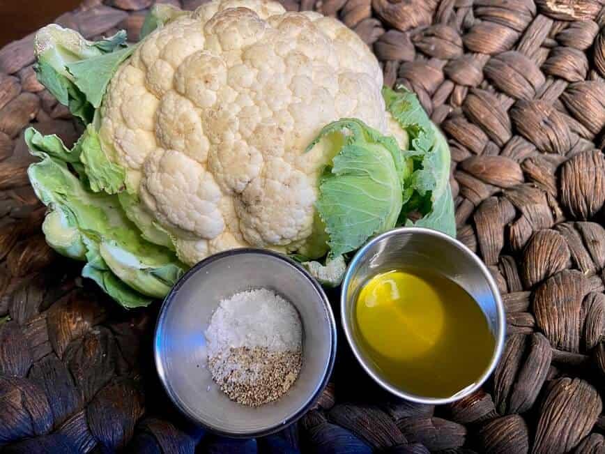 Cauliflower Rice and Oven Roasted Cauliflower - Cauliflower, olive oil, salt & pepper (Photo by Erich Boenzli)
