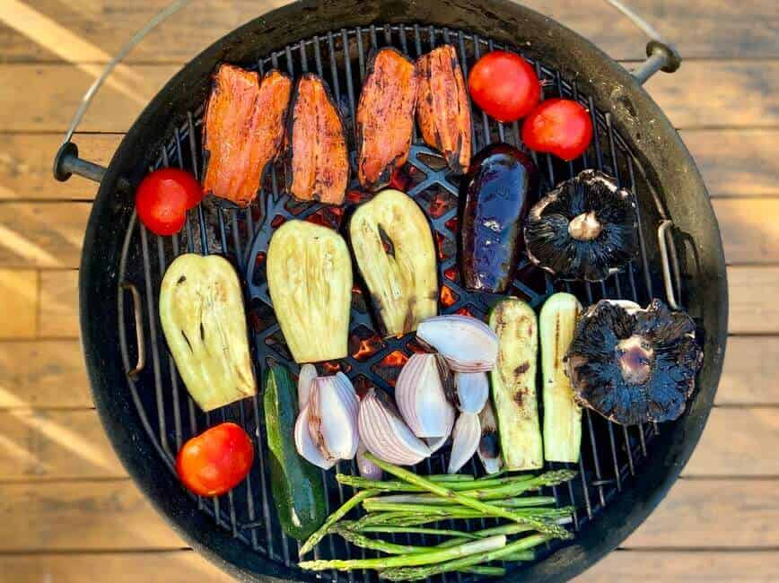 Grilling Vegetables - Yes, it's that easy, no special equipment needed (Photo by Erich Boenzli)