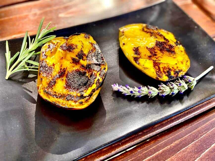 Grilling Fruits - Grilled mango slices with a sprinkle of lime juice (Photo by Erich Boenzli)