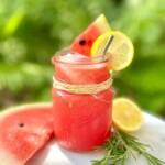 Watermelon Lemonade with Rosemary
