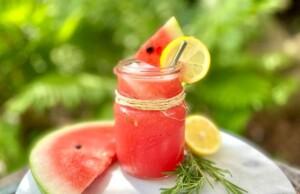 Watermelon Lemonade with Rosemary (Photo by Viana Boenzli)