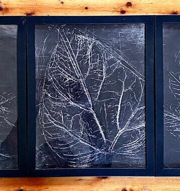 Fall Leaf Aluminum Foil Craft (Photo by Viana Boenzli)
