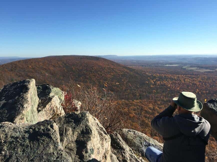 Raptors Migration - View from Bake Oven Knob (Photo by Erich Boenzli)
