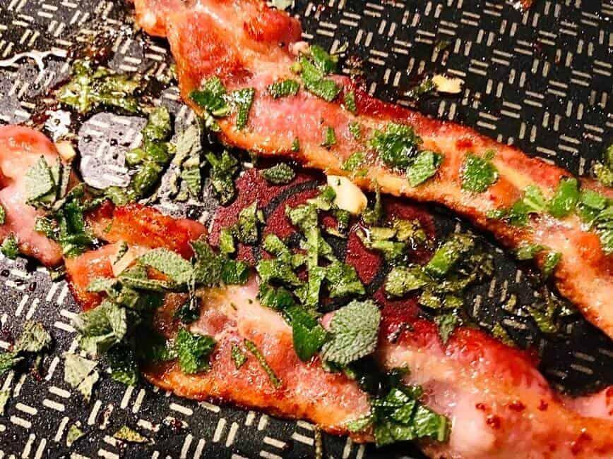 Butternut Squash Pasta - Bacon, sage, and garlic (Photo by Erich Boenzli)