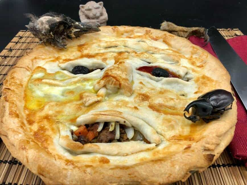 """Face Meat Pie - """"Would you like a slice with the nose or the eye darlin?"""" (Photo by Erich Boenzli)"""