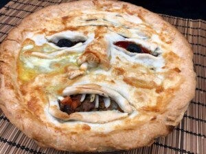 Face Meat Pie - So spooky yet so delicious (Photo by Erich Boenzli)