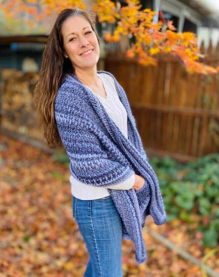 Crochet Pocket Shawl (Photo by Erich Boenzli)