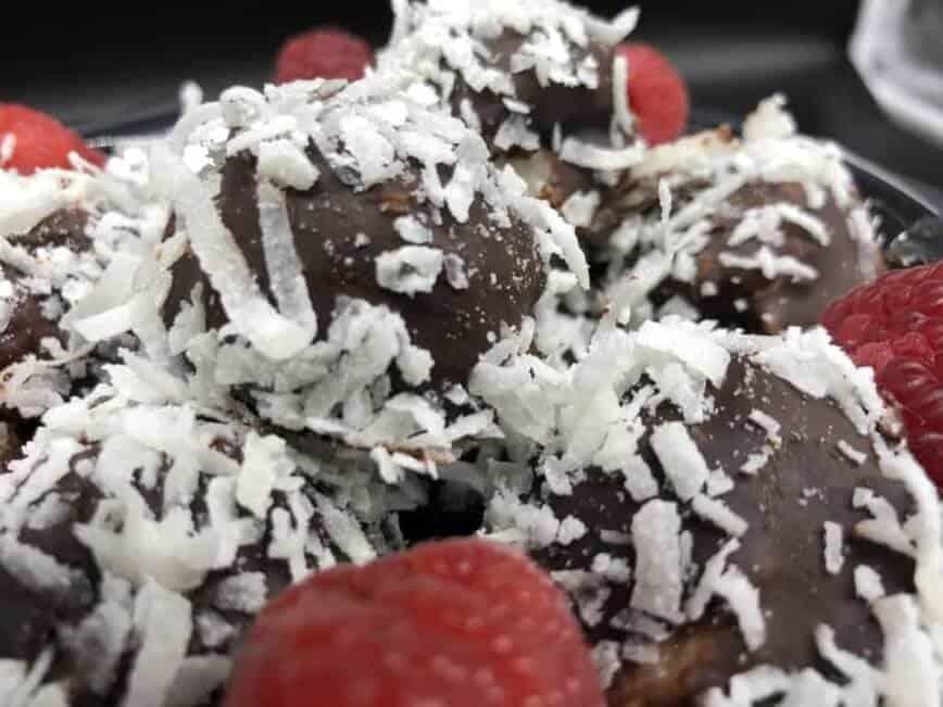 Raspberry Coconut Chocolate Truffles (Photo by Erich Boenzli)