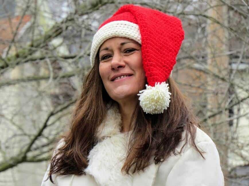 Santa Claus is Coming to Town with a Free Santa Hat Crochet Pattern (Photo by Erich Boenzli)