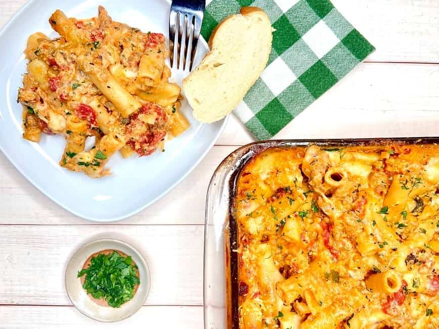 Baked Ziti with Ricotta and Italian Sausage (Photo by Viana Boenzli)