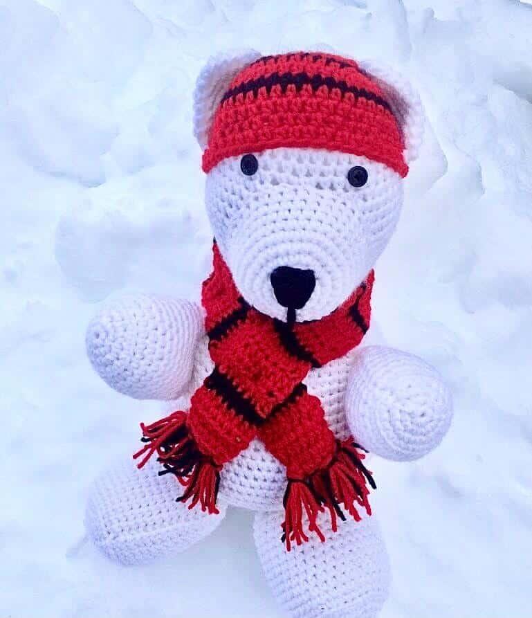 Polar Bear Baby Plush Free Crochet Pattern (Photo by Erich Boenzli)