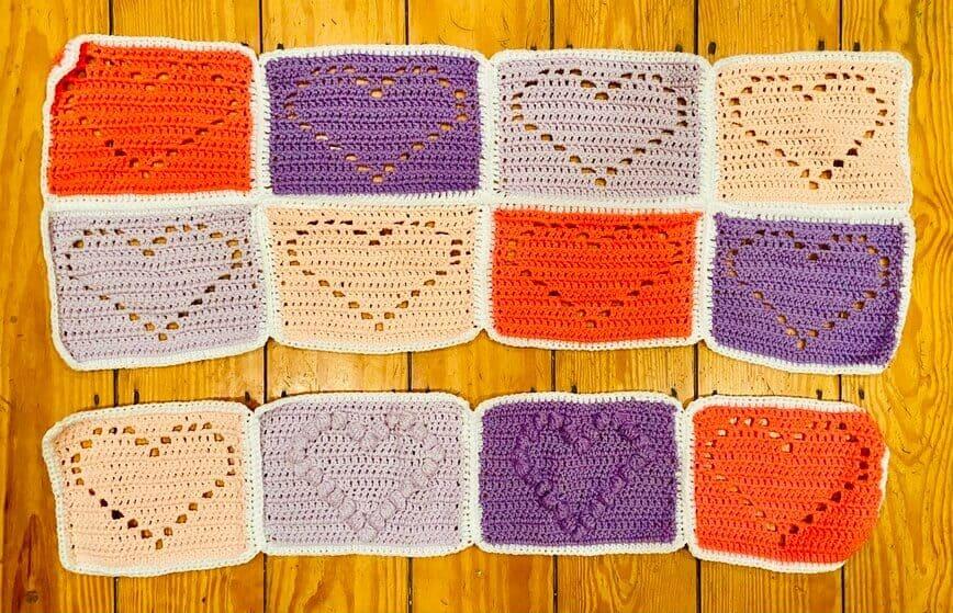 Love You With All My Heart Free Crochet Blanket Pattern (Photo by Viana Boenzli)