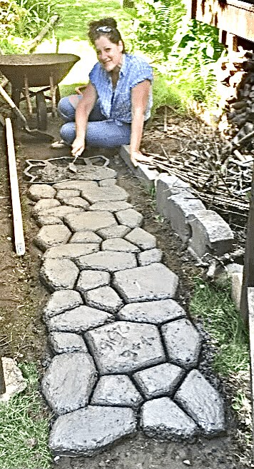 Faux Stone Path - Moving right along (Photo by Erich Boenzli)