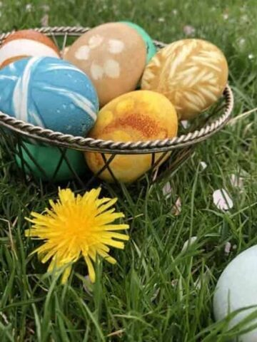 Natural dye for Easter Eggs (Photo by Erich Boenzli)