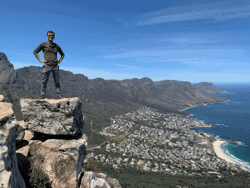 About Erich - On top of Lion's Head, Cape Town, South Africa