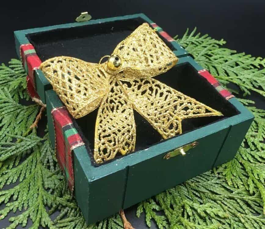 DIY Gift Box - Finished open gift box (Photo by Viana Boenzli)