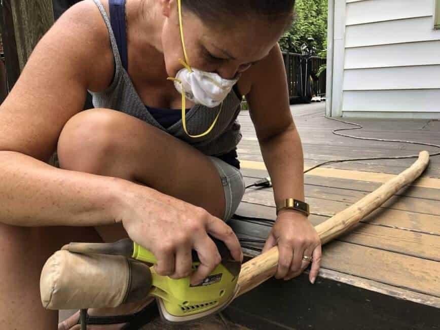 DIY Ladder - Sawdust everywhere! (Photo by Erich Boenzli)